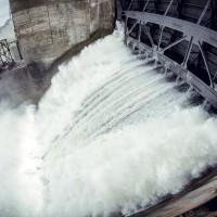 Водосброс на Новосибирской ГЭС