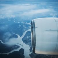 Красноярское водохранилище с самолета